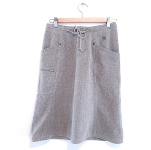 MOUNTAIN HARD WEAR TIE IN THE FRONT A LINE SKIRT